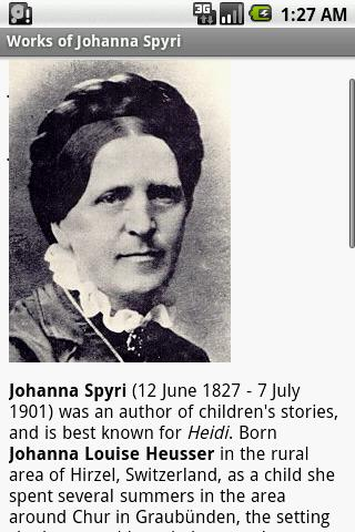 Works of Johanna Spyri - screenshot