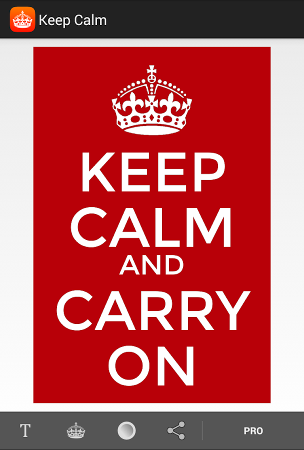 Keep Calm - screenshot