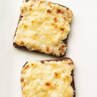 Mini Bacon and Cheese Toasts.