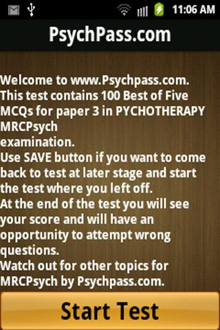 MRCPsych Psychotherapy Paper 3