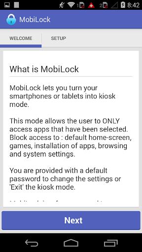 MobiLock Kiosk Lockdown