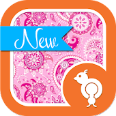 Sweet Pink Paisley Theme SMS