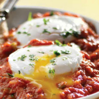 Eggs Poached in Spicy Tomato Sauce.