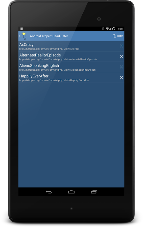 Android Troper- screenshot