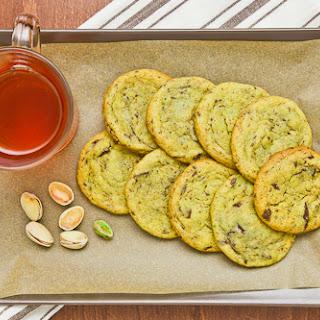 White Chocolate Pistachio Dark Chocolate Chunk Cookies.