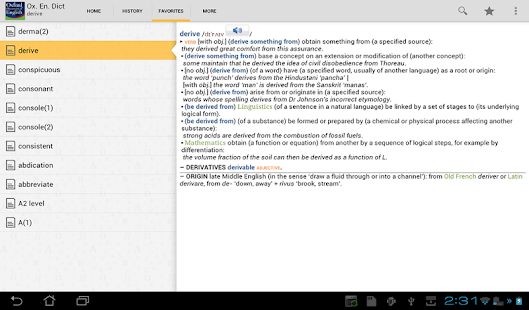 Oxford Dictionary of English - screenshot thumbnail