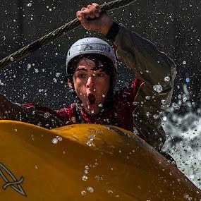 Having Fun by Mike Watts - Sports & Fitness Watersports ( watersports, fun, kayak )