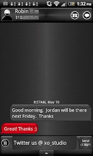 GO SMS COOL RED ANDROID THEME - screenshot thumbnail
