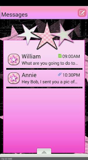 RetroStars GO SMS THEME