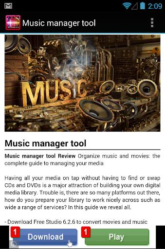 【免費娛樂App】Official Music Manager Tool-APP點子