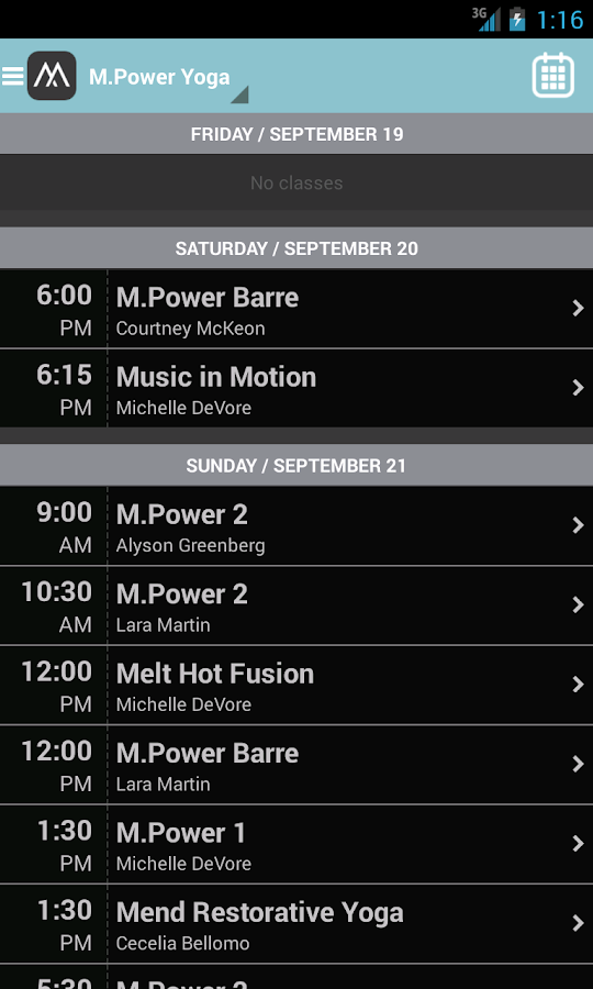 M.Power Yoga- screenshot