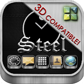 Next Launcher Theme Steel 3D