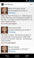 Screenshot of Beauty Product Reviews