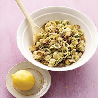 Roasted Cauliflower with Pasta and Lemon Zest