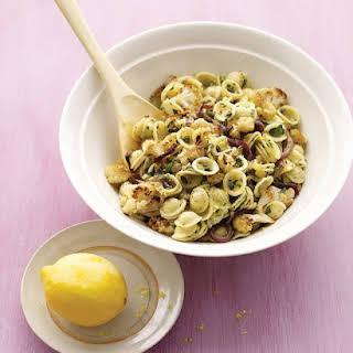 Roasted Cauliflower with Pasta and Lemon Zest.