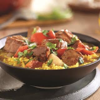 Spanish Pork Stew with Saffron Rice.