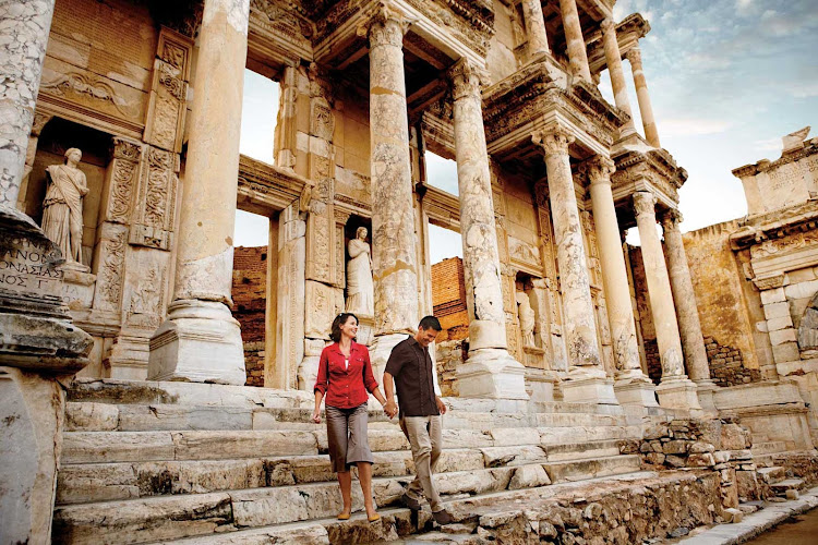 On a Silversea shore excursion to Kusadasi  and the ruins of Ephesus, Turkey.