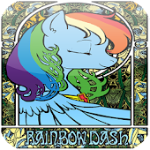 Rainbow My Pony Pegasus Dash