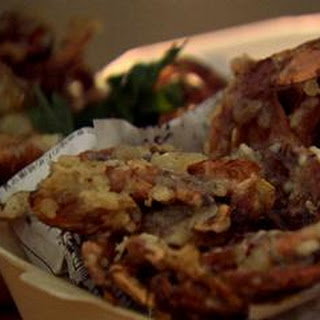 Soft Shell Crab Tempura With Chilli And Mint Dressing