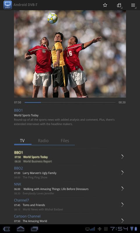 DVB-T for Android- screenshot
