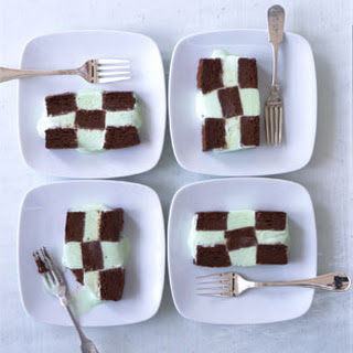 Frozen Mint Chocolate Checkerboard
