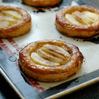 Apple, Goat Cheese, and Honey Tartlets.