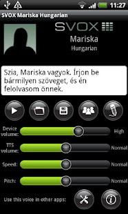 SVOX Hungarian/Magyar Mariska- screenshot thumbnail