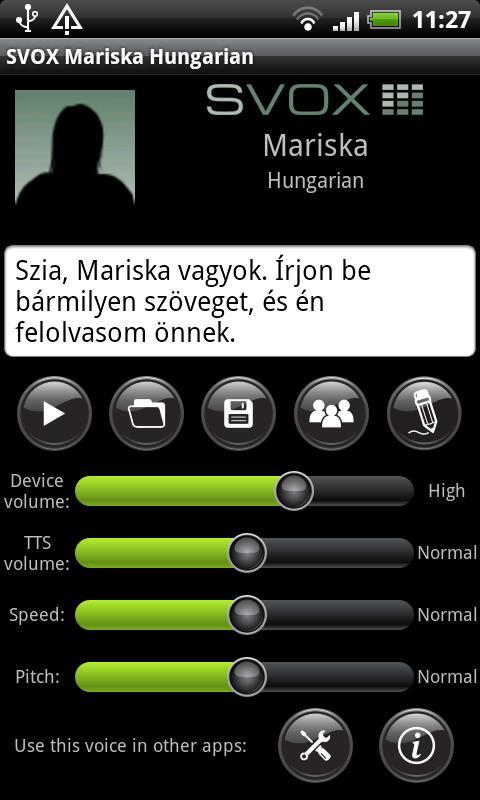 SVOX Hungarian/Magyar Mariska - screenshot