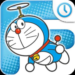 ドラえもん アナログ時計ウィジェット「ドラえもん登場!」 個人化 App LOGO-APP試玩