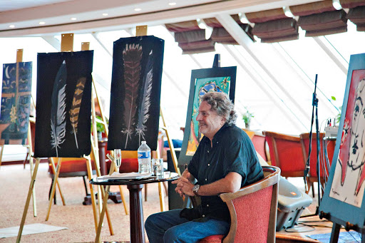 Azamara-Bilbao-Artist-Greg-Furman - Learn from an artist-in-residence like Greg Furman, who hails from the Basque region of Bilbao, on board an Azamara cruise.