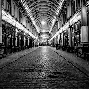 leadenhall market  by Tribalstu Clinton - Black & White Buildings & Architecture ( black&white london long exposure fine art,  )