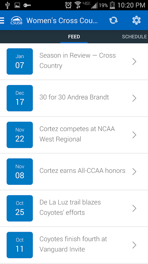 CSUSB Mobile- screenshot