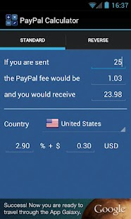 PayPal Calculator - screenshot thumbnail
