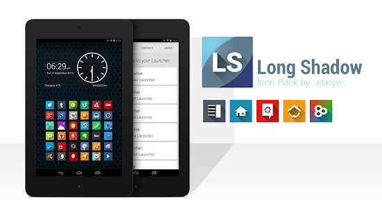 Long Shadow Icon Pack Screenshot 3
