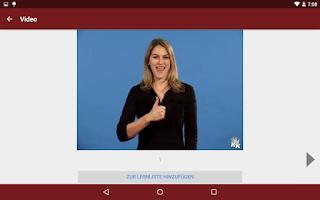 Screenshot of Deutsche Gebärdensprache - DGS
