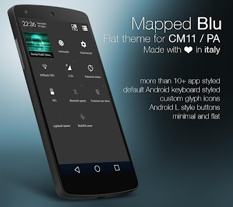 Mapped Blue - CM11/PA Theme v1.5