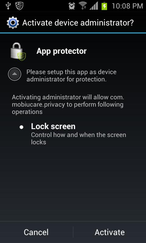 App Protector - MobiUlock- screenshot