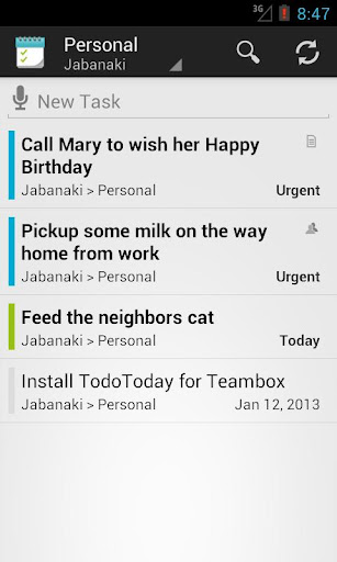 TodoToday for Teambox