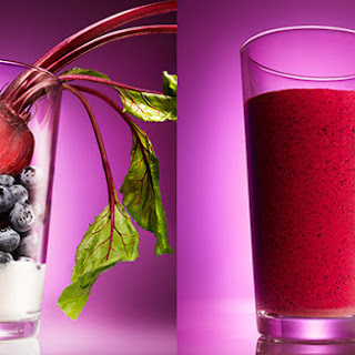 Blueberry-Beet Smoothie with Coconut Water.