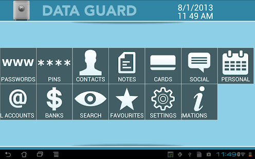 Data + Guard: password manager - screenshot thumbnail