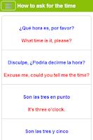 Screenshot of Learn Spanish