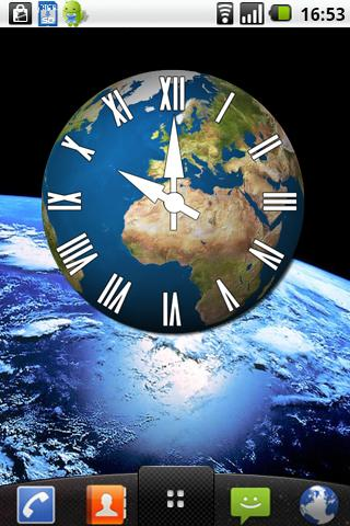 Earth clock - screenshot
