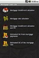 Screenshot of Mortgage Loan Lite