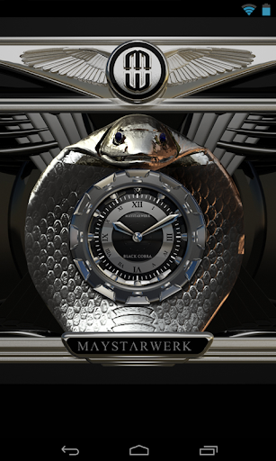 【免費個人化App】Clock Widget Black Cobra-APP點子