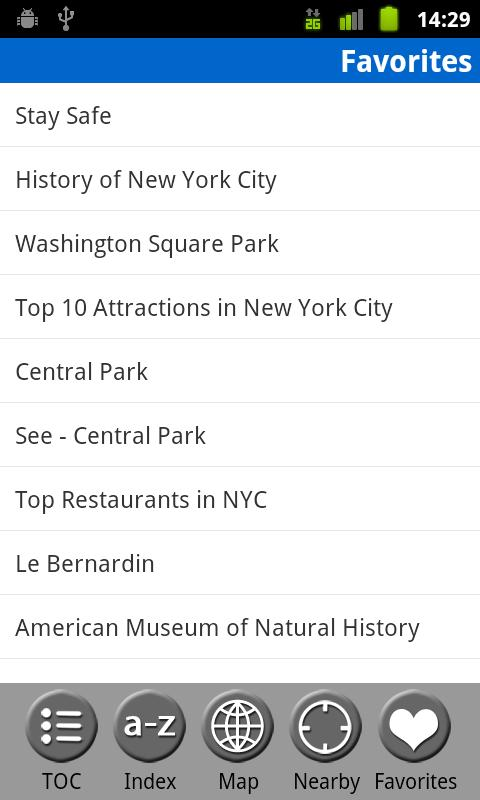 New York City - Travel Guide- screenshot