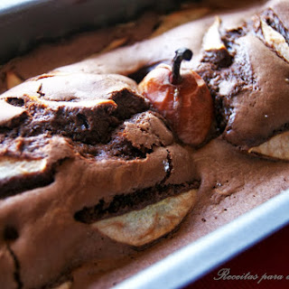 Chocolate and Pear Cake.