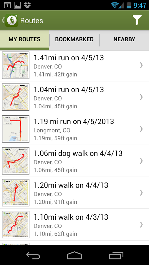 MapMyHike GPS Hiking - screenshot