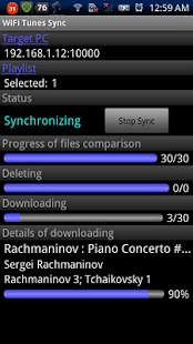 WiFi Tunes Sync - screenshot thumbnail