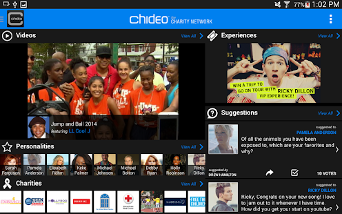 Chideo the Charity Network - screenshot thumbnail