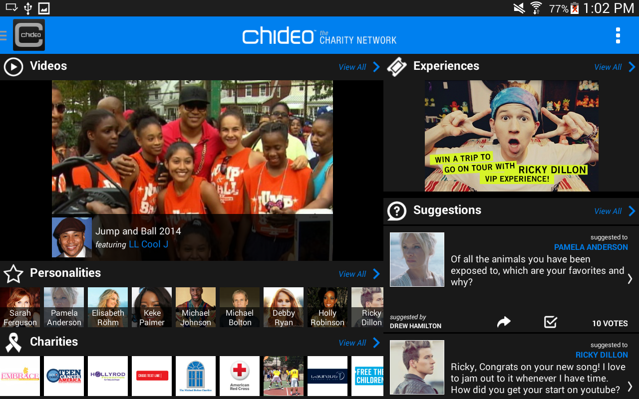 Chideo the Charity Network - screenshot